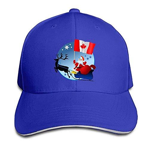 Canada Santa Canada Flag Cotton Adjustable Peaked Baseball Cap Adult Sandwich Hat -