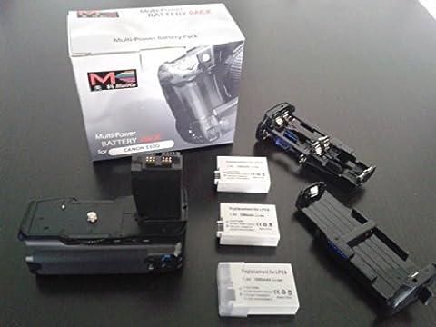 Meike Batteriegriff fuer Canon EOS 700D, 650D, 600D und 550D als BG-E8 Ersatz in Originalqualitaet fuer 1-2 Stueck LP-E8 oder 6 AA Akkus
