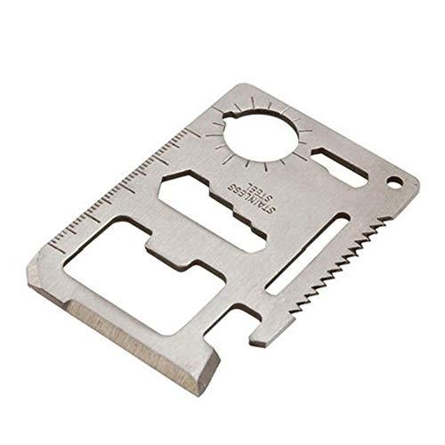 Supertop Toolcard Pro mit Geldscheinklammer - Credit Card Multitool. Schlanke, minimalistische Edelstahl-Geldbörse mit Multi-Tool und Geldscheinklammer - Bead Blast Silver