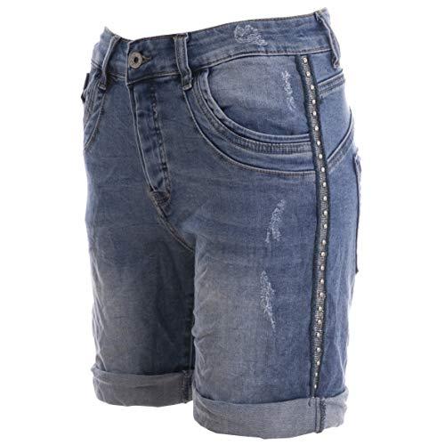 Denim Und Co (Basic.de Damen Bermuda-Shorts mit Metall-Nieten Melly & CO 6016 Jeans S)