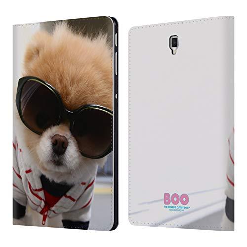 Head Case Designs Offizielle Boo-The World's Cutest Dog Streifen Sonnenbrillen Brieftasche Handyhülle aus Leder für Samsung Galaxy Tab S4 10.5 (2018)