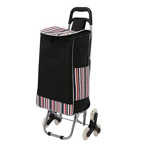 Voluker Einkaufstrolley mit 6 Rädern, Einkaufstrolley, Einkaufstrolley, Einkaufstrolley mit Rollen, faltbar, maximale Belastung 30 kg