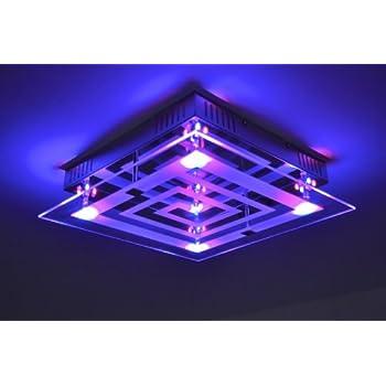 plafonnier led avec variateur de couleurs et t l commande luminaires et eclairage. Black Bedroom Furniture Sets. Home Design Ideas