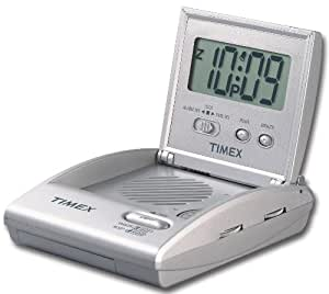 Timex T315SX Travel Alarm Clock Radio (Silver)