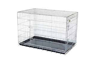 "48"" Giant silver strong dog cage by Doghealth ck48"