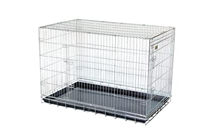 "48"" Giant black strong dog cage by Doghealth ck48"