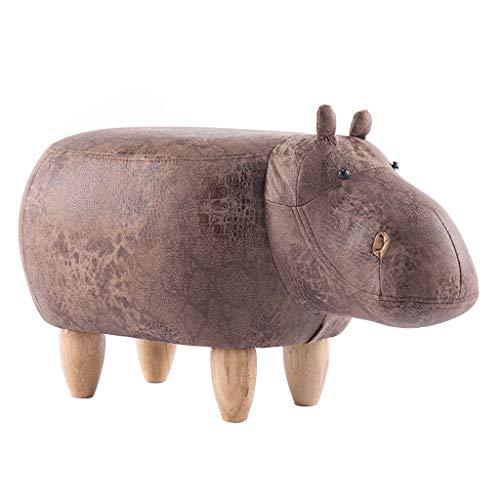 Kreative Haushalt gepolsterte hocker osmanischen schöne Cartoon Tier Hippo ändern Schuhe hocker für Kinder & Erwachsene/braun/max.150kg (65cmx35cmx37cm) -