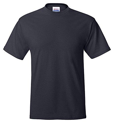 Hanes Adult ComfortBlend Eco Smart Crewneck Hem T-Shirt Navy