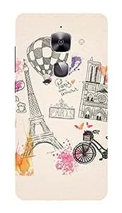 LeEco Le 2 Pro Black Hard Printed Case Cover by Hachi - Paris Eiffel Tower Design
