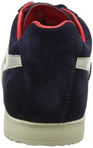 Gola Herren Harrier Suede Sneaker Blau (Navy/off White/red)
