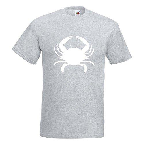 KIWISTAR - Krebs Cancer T-Shirt in 15 verschiedenen Farben - Herren Funshirt bedruckt Design Sprüche Spruch Motive Oberteil Baumwolle Print Größe S M L XL XXL Graumeliert