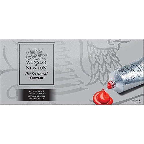 Winsor & Newton Profesional - Set de 12 tubos de 20 ml de acrílicos