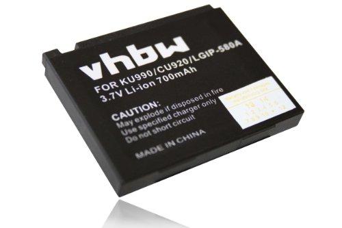 Batterie LI ION pour LG KU990 Viewty KU 990, LG KC910 KC 910, LG HB620T DVB T, LG KB770, LG KM900 Arena
