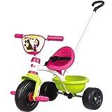 Dreirad 2 in 1 mit abnehmbarer Schiebestange aus Metall im Mascha Design, verstellbarer Sitz, Sicherheitsgurt und Kippwanne, Pedal-Freilauf und Lenkblockierung, Schiebewagen Baby Trike ab 15 Monate