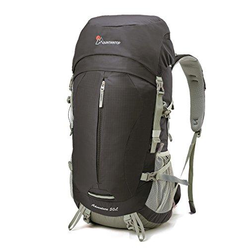 Mountaintop 50+5 L Erwachsene Trekkingrucksack Rucksack mit Regenhülle, 64 x 30 x 21 CM