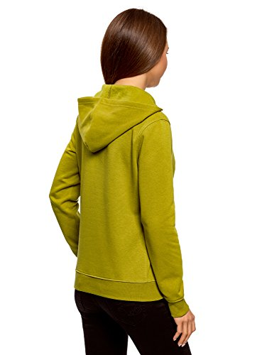 oodji Ultra Femme Hoodie en Coton avec Broderie Vert (6729P)