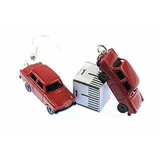 Trabi Ohrringe Auto Trabant Trabbi Ohrhänger Miniblings Modell 1 160 rot