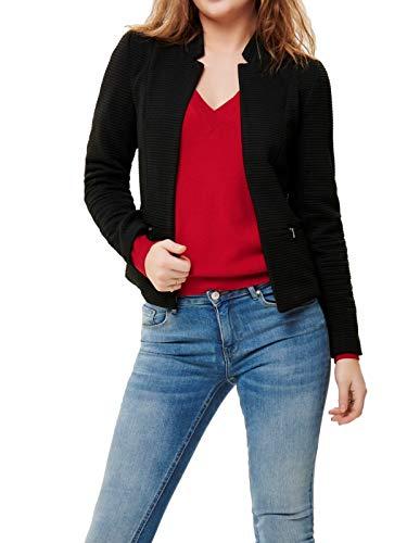 ONLY Damen Kurz-Blazer onlLink Maddy Anzugjacke, Farbe:Schwarz, Größe:40 Langer Schwarzer Wollmantel