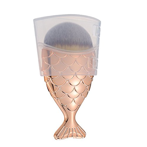 YUMUN®Fisch-Skala Make-up Pinsel Fishtail Bottom Pinsel Pulver Blush Make-up Kosmetik Pinsel (Gold)