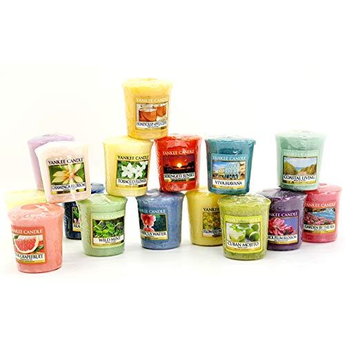 Scheda dettagliata YANKEE CANDLE 12 x Ufficiale Votive Candele fragranze Primavera e Estate assortite