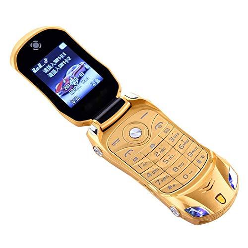 Preisvergleich Produktbild GailMontan Schlag-Telefon Doppel-SIM-Sportwagen-Modell Bluetooth-Handy für Kinder - Gold