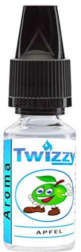 10ml Twizzy Apfel Aroma | Aroma für Shakes, Backen, Cocktails, Eis | Aroma für Dampf Liquid und E-Shishas | Flav Drops | Ohne Nikotin 0,0mg