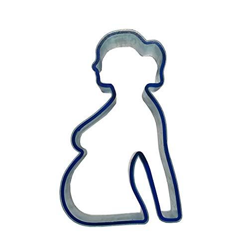 M.M.C. Babybauch Keksausstecher Fondant Plätzchen-Ausstecher Ausstechform aus Kunststoff für Tortendeko Backen Zubehör Schwanger Baby-Party Babyshower (Blau)