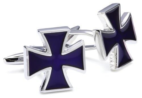 Teroon Unisex-Manschettenknöpfe Bundeswehrkreuz Blaue Emaille 609393