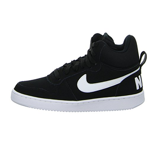 Nike Wmns Court Borough Mid, Chaussures de Sport-Basketball Femme Multicolore (Black/White)