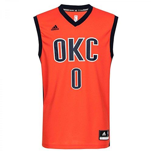 adidas Herren Basketballtrikot INT Replica JRSY, Blau/Weiβ, XL, 4055345070634