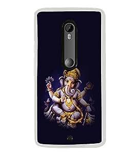 PrintVisa Designer Back Case Cover for Motorola Moto X Play (Ganapathi Ganesh Mahraj Vinayaka)