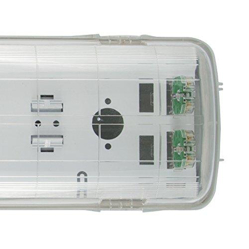 Preisvergleich Produktbild LED Feuchtraumlampe Wannenhalterung 150cm doppel - IP65