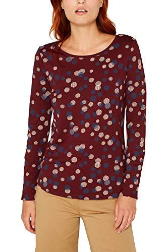 ESPRIT Damen 089Ee1K026 T-Shirt, Rot (Garnet Red 620), Medium (Herstellergröße: M) -