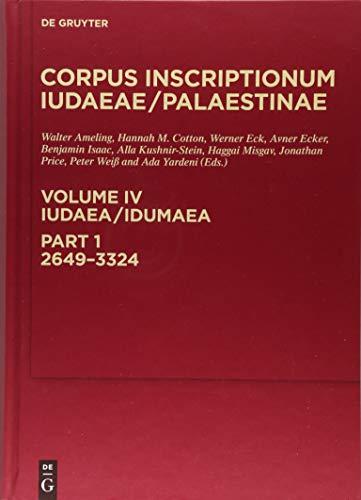 Corpus Inscriptionum Iudaeae/Palaestinae: Iudaea / Idumaea: 2649-3324