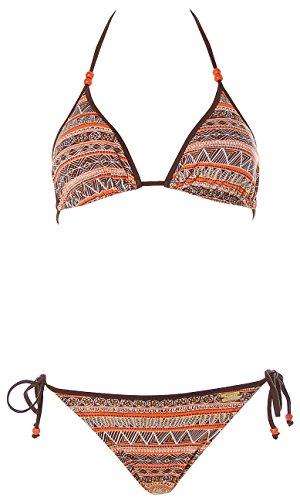 Buffalo Damen Triangel Bikini (42C/D, Braun)