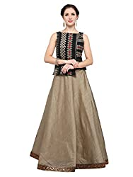 Inddus Black Banarasi Cotton Semi Stitched Lehenga Choli for women party wear Wedding Wear Casual Wear Festive Wear Bollywood New Collection Latest Design Trendy Daily Wear