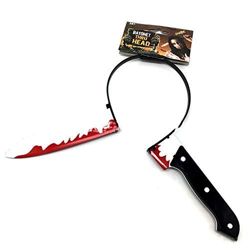 Yililay 1Pcs Simulation Kopf Messer-Haar-Band-Spielzeug für Halloween-Maskerade Halloween Haar-band