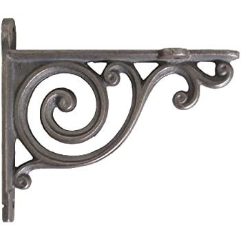 solid s shelf image cast brackets look style with itm details wood iron bracket loading reclaimed about vintage wall is