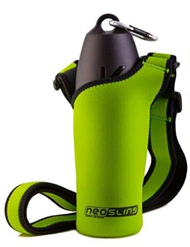 H2O4K9 Neosling mit 700 ml Hunde-Wasserflasche und Reise-Napf, Baumfrosch-Grün -