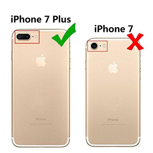 Custodia iPhone 7 [Pellicola Protettiva in Vetro Temperato], Yoowei® Design Colorato Cristallo Trasparente Ultra Sottile Morbido TPU Gel Case Cover per iPhone 7 4.7 (Fenicotteri) UFO