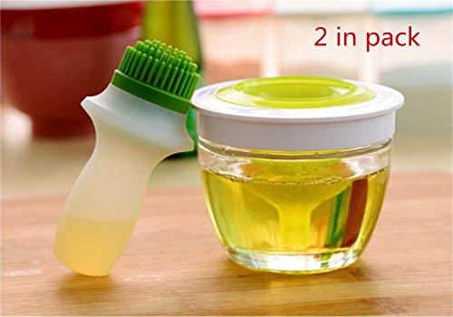 UNIQUE-F Ölflaschenbürste Mehrzwecköl Honigspender Lagerung Backpinsel Grill Pfannkuchen Grill Eingelegte Lebensmittel