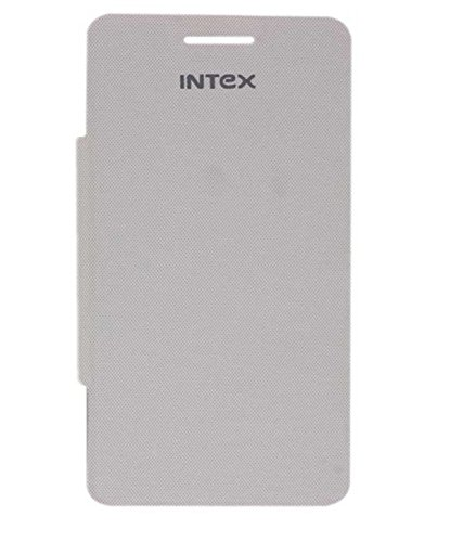 BRYNN Flip Cover for Intex Aqua Star Hd - White  available at amazon for Rs.149