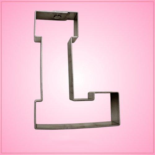Varsity Ausstechform Buchstabe L 10,8 cm (Metall) Aluminium (Buchstaben-ausstechformen Aus Metall)