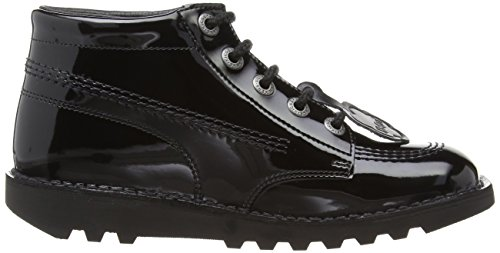 Kickers Kick Hi Core, Bottes Fille Noir (black Patent)