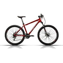 Megamo Natural 50 Bicicleta de Montaña, Hombre, Rojo, L