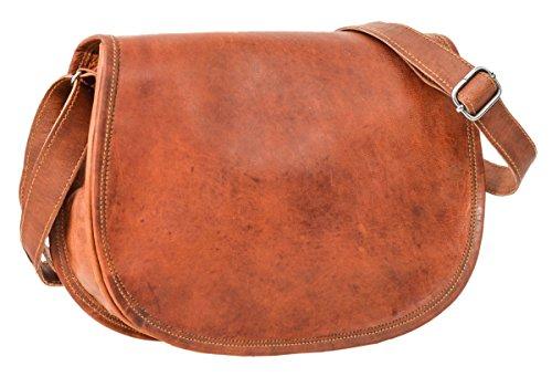 Holly Leder (Gusti Leder nature ''Holly'' Handtasche Damentasche Umhängetasche Freizeit Shoppingtasche Abendtasche Schultertasche Ledertasche Vintage Retro Braun K68b)