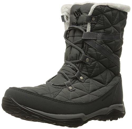 COLUMBIA Damen Casual Stiefel, Wasserdicht, LOVELAND MID OMNI-HEAT, Grau (Quarry, Black), 37 1/2 (Columbia Wasserdichte Womens Stiefel)