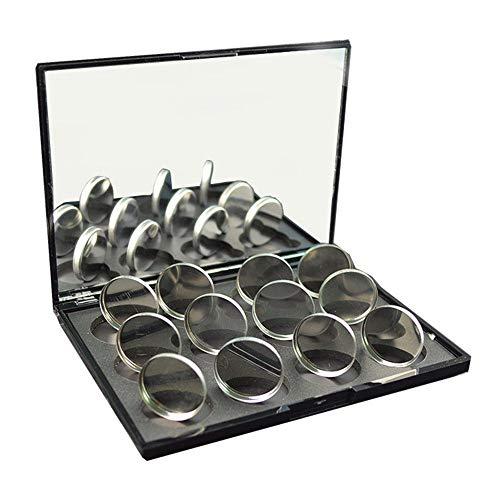 Hupoop12 stücke Leere Runde Zinnpfannen für Pulver Lidschatten 26mm Reagiert auf Magnete