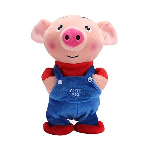beiguoxia Niedliche elektrische Puppe Lernspielzeug Cartoon Schwein Esel Plüsch Puppe Laufen Singen Elektrisches Spielzeug Kinder Geschenk Smart Toys