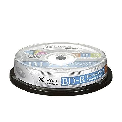 Xlayer BD-R Blu-Ray 50GB Rohlinge 6x printable 10er (Bd-r Rohlinge)